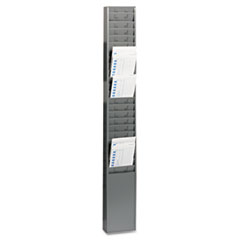 SteelMaster Steel Time Card Rack with Fixed 4 1/2 x 5 Pockets