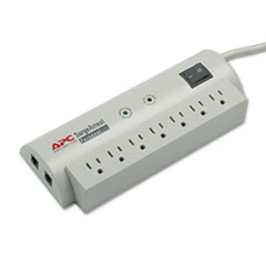 APC SurgeArrest Personal Pwr Surge Protector w/Tel Protect, 7 Outlets, 6ft Cord