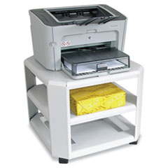 Master Mobile Printer Stand, 3-Shelf, 17-4/5w x 17-4/5d x 14-3/4h, Platinum