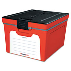 Sentry Safe Guardian Storage Box, 1.04 cu. ft., 12 5/8w x 19 1/2d x 15 7/8h, Red