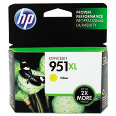 CN048AN140 (HP 951XL) Ink Cartridge, 1500 Page-Yield, Yellow
