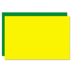 Eco Brites Too Cool Foam Board, 20x30, Fluorescent Yellow/Green, 5/Carton