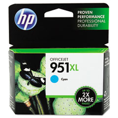 CN046AN140 (HP 951XL) Ink Cartridge, 1500 Page-Yield, Cyan