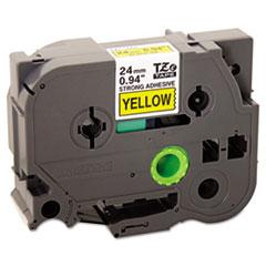 TZe Extra-Strength Adhesive Laminated Labeling Tape, 1w, Black on Yellow