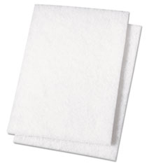 Premiere Pads Light Duty Scour Pad, White, 6 x 9, 20/Carton