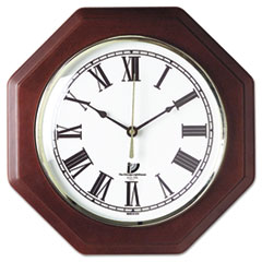 Chicago Lighthouse Octagon Mahogany Quartz Clock, 12 in, Mahogany