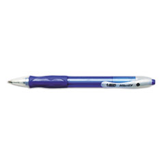 BIC Velocity Ballpoint Retractable Pen, Blue Ink, Medium, Dozen