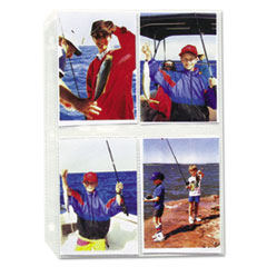C-Line Clear Photo Pagesfor 8, 3-1/2x5 Photos, 3-Hole Punched, 11-1/4 x 8-1/2, 50/Box