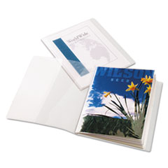 Cardinal ClearThru ShowFile Presentation Book, 12 Letter-Size Sleeves, Clear