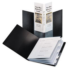 Cardinal Spine Vue ShowFile Display Book w/Index, 24 Letter-Size Sleeves, Black