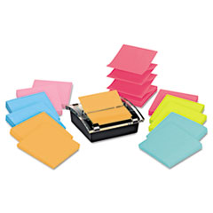 Post-it Pop-up Notes Super Sticky Super Sticky Pop-up Dispenser Value Pack, 3 x 3, Assorted