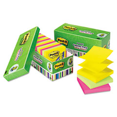 Post-it Pop-up Notes Ultra Pop-Up Note Refills, 3 x 3, Assorted Colors, 18 100-Sheet Pads/Pack