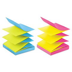 Post-it Pop-up Notes Pop-Up Refills, 3 x 3, Four Alternating Ultra Colors, 100/Pad, 12 Pads/Pack