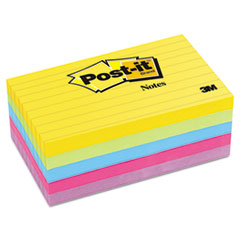 Ultra Color Notes, 3 x 5, Lined, Five Colors, 5 100-Sheets Pads/Pack