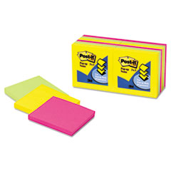 Post-it Pop-up Notes Pop-Up Note Refills, 3 x 3, Five Ultra Colors, 12 100-Sheet Pads/Pack