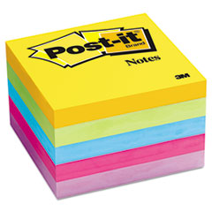 Post-it Notes Ultra Color Notes, 3 x 3, Five Colors, 5 100-Sheet Pads/Pack