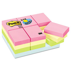 Post-it Notes Pastel Notes Value Pack, 1 1/2 x 2, Assorted, 24 100-Sheet Pads/Pack
