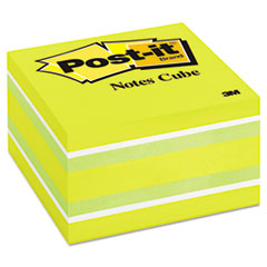 Post-it Notes Cube, 3 x 3, Ribbon Candy, 470 Sheets