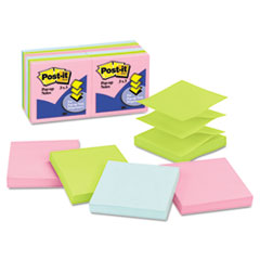 Post-it Pop-up Notes Pop-Up Note Refills, 3 x 3, Five Pastel Colors, 12 100-Sheet Pads/Pack