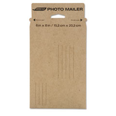 Caremail Rigid Photo Mailer, #0, White, 24/Pack