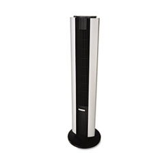 Bionaire Remote Control Tower Fan, Three Speed, Black/Silver