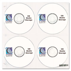 C-Line CD/DVD Refillable D-Ring Binder Kit, Holds 80 Disks, Black