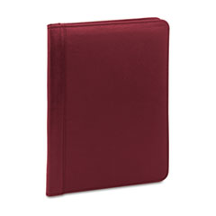 Universal Pad Holder, Suede-Lined Leather w/Writing Pad, Inside Flap Pocket, Burgundy