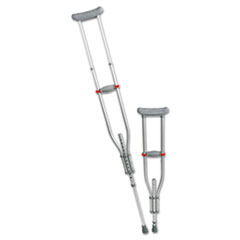 Medline Quick Fit Push Button Aluminum Crutches, Adjustable, 4' 7