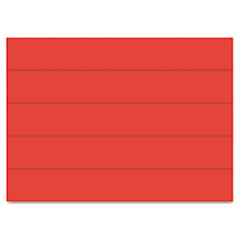 MasterVision Dry Erase Magnetic Tape Strips, Red, 6