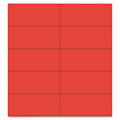 MasterVision Dry Erase Magnetic Tape Strips, Red, 2