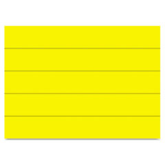 MasterVision Dry Erase Magnetic Tape Strips, Yellow, 6