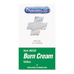 PhysiciansCare XPRESS First Aid Kit Refill, Burn Cream, 10/box