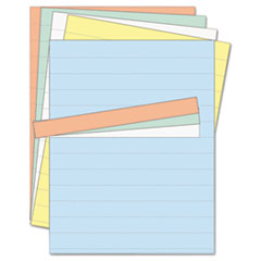 MasterVision Data Card Replacement Sheet, 8 1/2 x 11 Sheets, Assorted, 10/PK