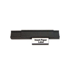 MasterVision Magnetic Card Holders, 2w x 1h, Black, 25/Pack