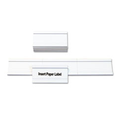 MasterVision Magnetic Card Holders, 2w x 1h, White, 10/Pack
