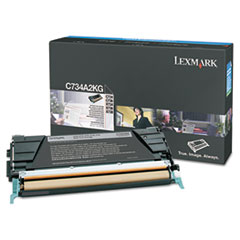 Lexmark C734A2KG High-Yield Toner,12,000 Page-Yield, Black