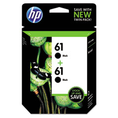 HP 61, (CZ073FN) 2-pack Black Original Ink Cartridges