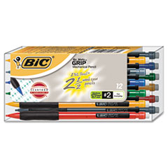 BIC Matic Grip Mechanical Pencil, Assorted Barrel, 0.7 mm, 12/Pack