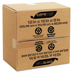 Caremail 100% Recycled Mailing Storage Box, Letter, Brown, 12/Pack