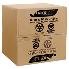 Caremail 100% Recycled Mailing Storage Box, Letter/Legal, Brown, 12/Pack