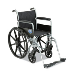Medline Excel K1 Basic Wheelchair, 18 x 16, 250 lbs.