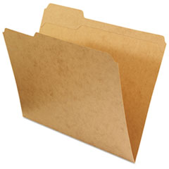 Universal Kraft File Folders, 1/3 Cut Assorted, Top Tab, Letter, Brown, 100/Box