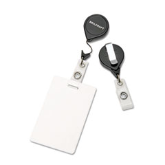 AbilityOne 8455015453657 Retractable ID Card Reel, Badge Holder, 30