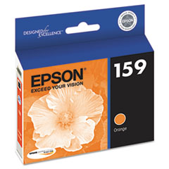 Epson T159920 (159) UltraChrome Hi-Gloss 2 Ink, Orange