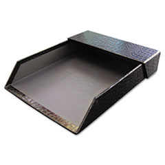 Aurora Products ProFormance Letter Tray, Crocodile Pattern, Black, With Roof