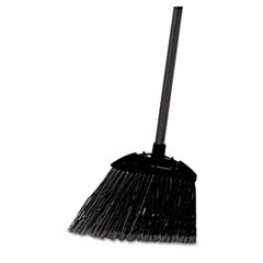 "Lobby Pro Broom, Poly Bristles, 28"" Metal Handle, Black"