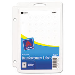 Avery Binder Pack Hole Reinforcements, 1/4