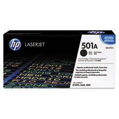 Q6470AG (HP 501A) Government Smart Toner Cartridge, 6,000 Page-Yield, Black