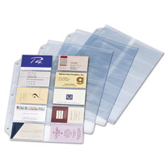 Cardinal Business Card Refill Pages, Holds 200 Cards, Clear, 20 Cards/Sheet, 10/Pack