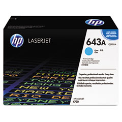 Q5951AG (HP 643A) Government Smart Toner Cartridge, 10,000 Page-Yield, Cyan